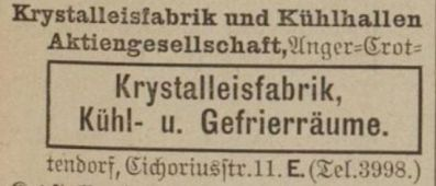 Eintrag im Adressbuch 1905