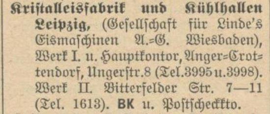 Eintrag im Adressbuch 1914