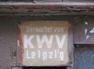 KWV-Schild in Leutzsch