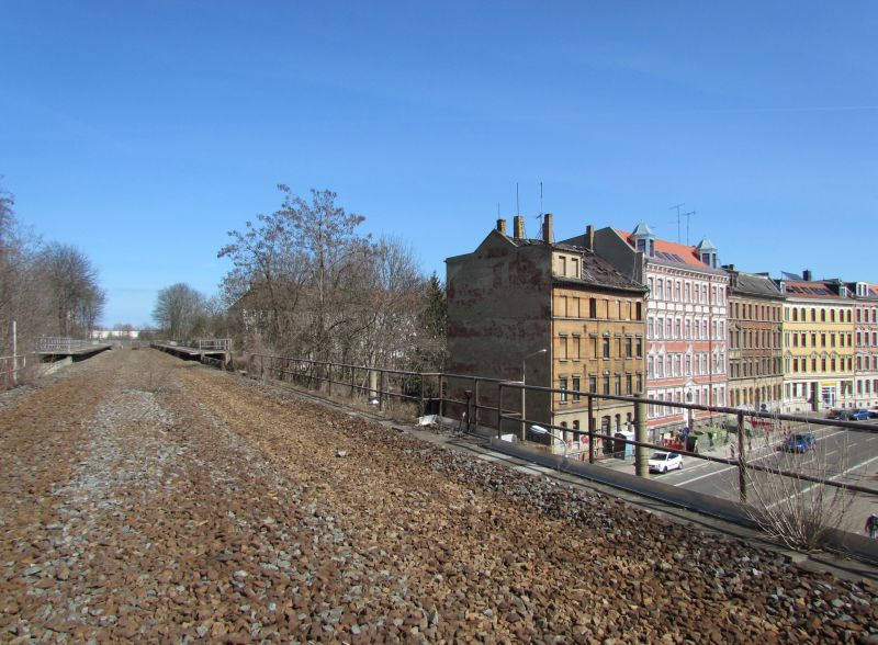 Hinten am Zaun ist Schluss in Sellerhausen / Wurzner Straße
