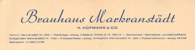 Brauhaus Markranstädt 1950