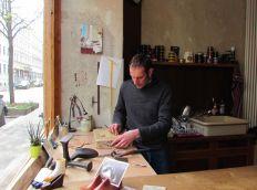 Sascha Halm in seiner Werkstatt