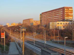 S-Bahn-Haltepunkt Karlsruher Straße (März 2016)