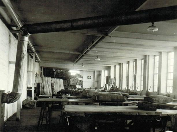 Matratzenfabrik in Mölkau um 1935