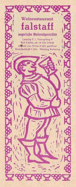 Falstaff-Anzeige aus den 1960er Jahren