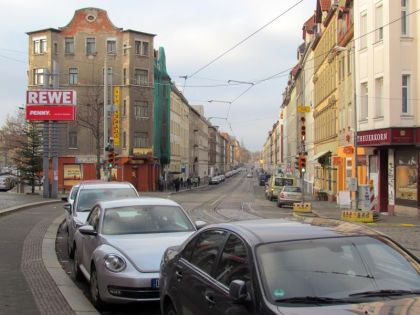Georg-Schwarz-Straße in Richtung Böhlitz-Ehrenberg