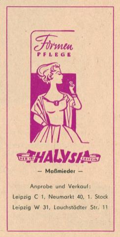 Mieder von Thalysia aus dem Leipziger Süden