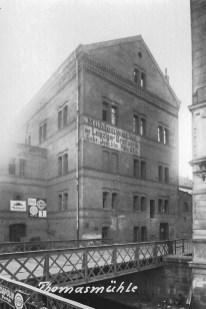 Thomasmühle mit Brotfabrik-Schriftzug