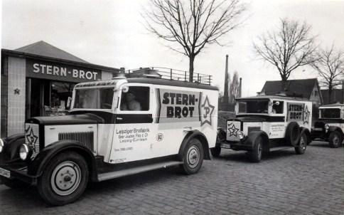 Stern-Brot-Filiale und -Lieferwagen