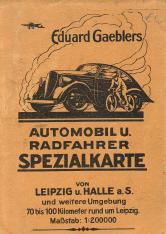 Eduard Gaeblers Automobil- und Radfahrer-Spezialkarte von 1941