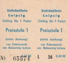 S-Bahn-Fahrkarten aus den 1980er Jahren