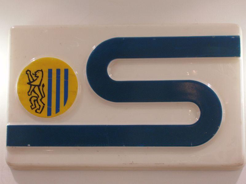 S-Bahn-Schild aus den 1980er Jahren