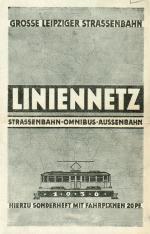 Liniennetz-Plan der Großen Leipziger Straßenbahn von 1936