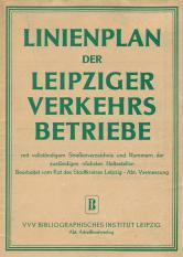 Linienplan der Leipziger Verkehrsbetriebe von 1951