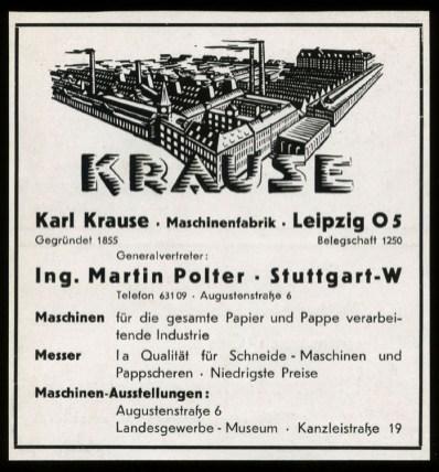 Krause-Werbung 1935, Polygraph-Gebäude hinten rechts