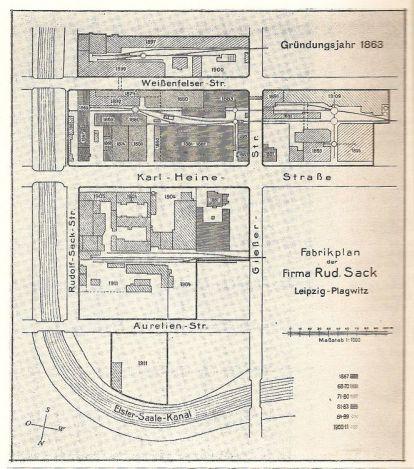 Fabrikplan von 1911 (Quelle: Illustrierte Chronik)