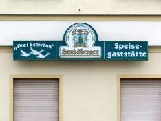 Drei Schwäne in Landsberg