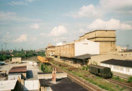 Lagerschuppen, Kühlhaus und Milchhof an der Brandeburger Straße 1995 (Foto: Holger Schmelzer)