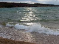 Stürmischer Störmthaler See