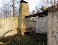Kamin am Nebengebäude
