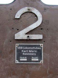 Lokomotive 2 stammt aus Babelsberg