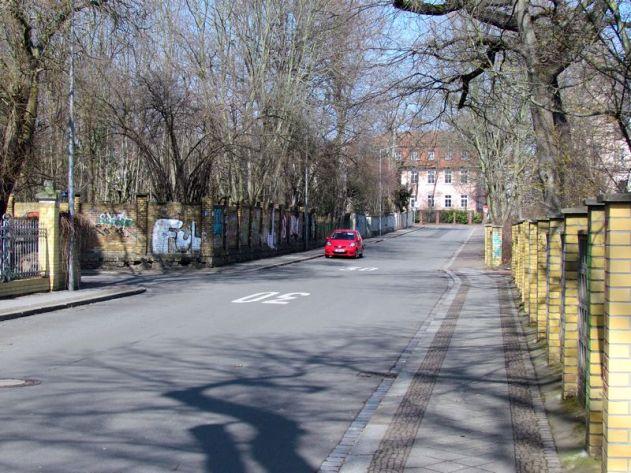 Gohliser Gestrüpp, Blick zur Lützowstraße