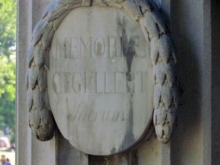 Gellert-Denkmal in Leipzig, Detail