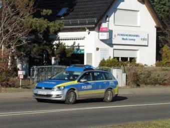 Polizeistreife in der Ratzelstraße