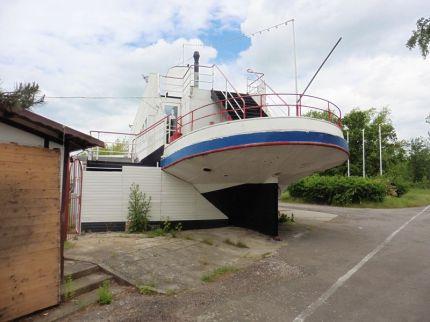Schiff am Kulkwitzer See, Mai 2019