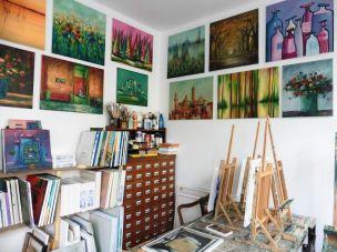 In Wolf-Dieter Trümplers Atelier