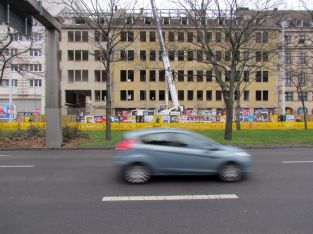Blick von der Gerberstraße im Dezember 2018