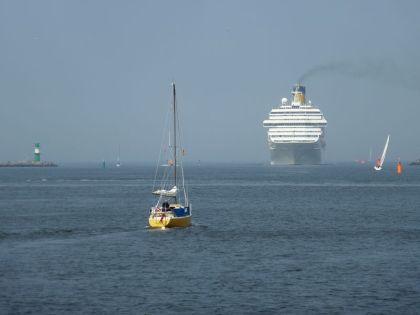 Wenn ein Schiff vorüberfährt