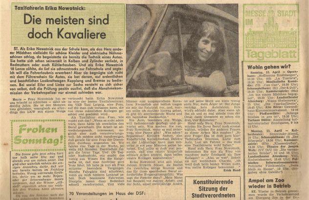 Taxifahrerin Erika Nowotnick