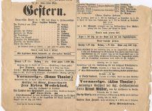 Stadttheater-Programmzettel von 1904