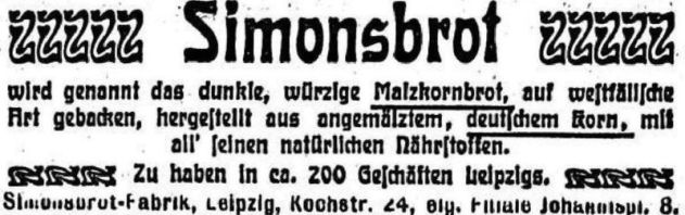 Thalysia-Werbung von 1903 in der LVZ
