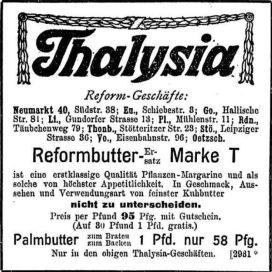 Thalysia-Werbung von 1908 in der LVZ