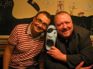 André Kudernatsch und Max Reeg 2009 mit dem Pantoffelpiraten im Meins