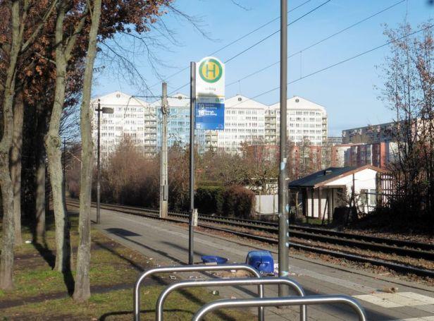 Straßenbahnendstelle in Lößnig