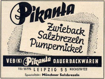 Pikanta-Anzeige aus dem Jahr 1955
