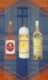 Horn-Getränke an der Fassade von Horns Erben