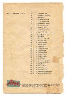 Inhaltsverzeichnis von Band 1