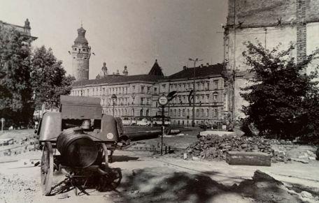 Abriss der Lampestraße 2 in den 1970er Jahren