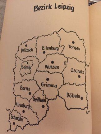 Der Bezirk Leipzig und seine Kreise zu DDR-Zeiten