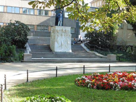Richard Wagner der Neuere in den Promenaden