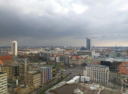 Blick vom Merkur Richtung Innenstadt, Foto: S+H