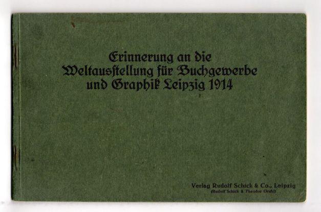 Erinnerung an die Bugra 1914