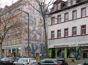 Giebel in der Karl-Heine-Straße