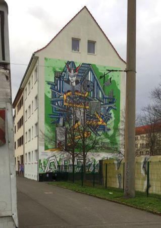 Uni-Giebel in der Georg-Schumann-Straße