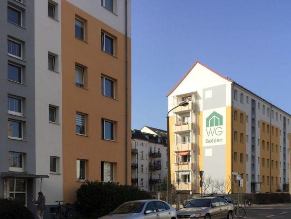 Giebel in der Bernhard-Göring-Straße