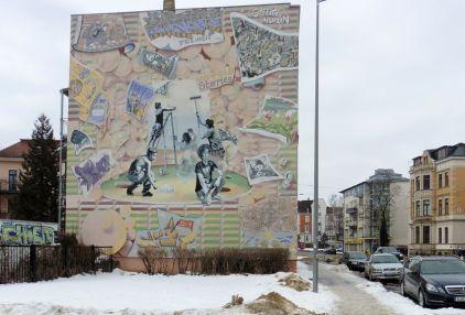 Giebel in der Georg-Schumann-Straße